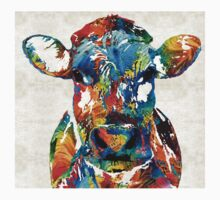Colorful Cow Art - Mootown - By Sharon Cummings Kids Clothes