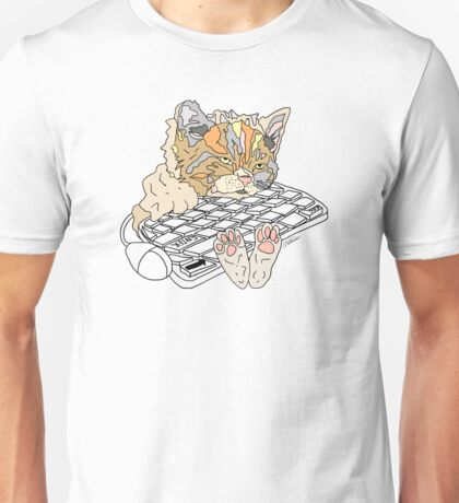 Tired Kitty Unisex T-Shirt