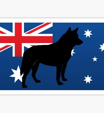 ACD silhouette on flag Sticker