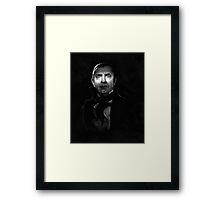 Bela Lugosi dracula - black and white digital painting Framed Print