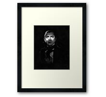 Bela Lugosi dracula - black and white digital painting Framed Print