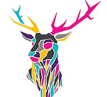 Geometric Stag Design by inkwellart