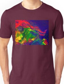 Cool Colorful Dragon Face Abstract Gifts Design From Paintings Unisex T-Shirt