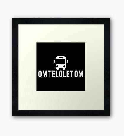 Om Telolet Om Bus Mania Framed Print