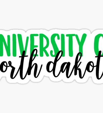 University of North Dakota Sticker