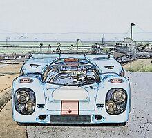 1967 Porsche 911 917K Illustration  by DaveKoontz