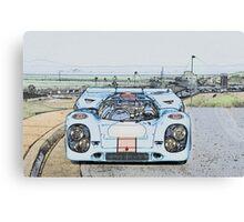 1967 Porsche 911 917K Illustration  Canvas Print
