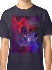 Echoes - Cool Dark Purple Orange Black And Pink Fantasy Abstract Art   Classic T-Shirt
