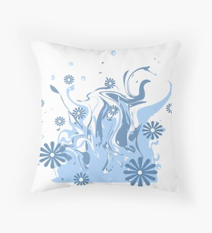 Abstract pattern of blue and white . Throw Pillow