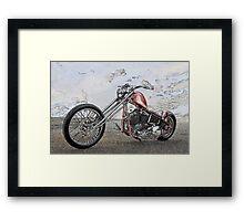 Chopper Illustration I Framed Print