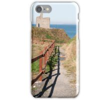 fenced path to Ballybunion beach and castle iPhone Case/Skin