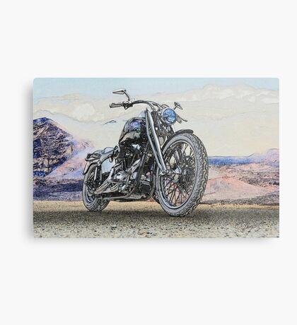 Chopper Illustration II Metal Print