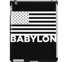 BABYLON FLAG WHT iPad Case/Skin