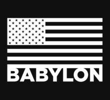 BABYLON FLAG WHT by NatanYah Ysrayl