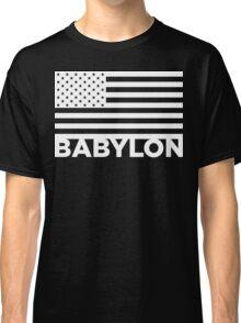 BABYLON FLAG WHT Classic T-Shirt