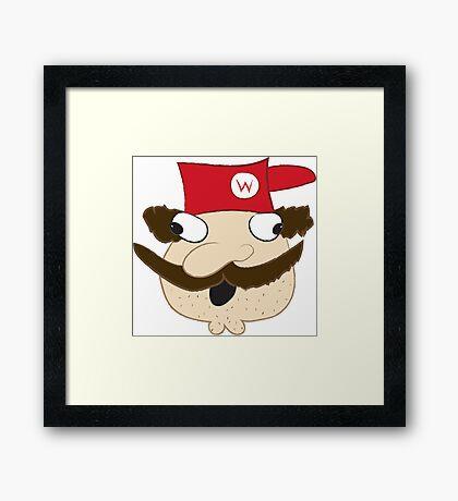 Demented Mario Framed Print
