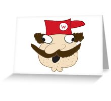 Demented Mario Greeting Card