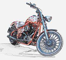Chopper Illustration III by DaveKoontz