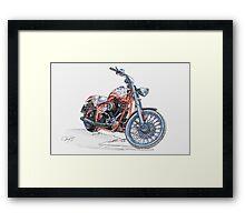 Chopper Illustration III Framed Print