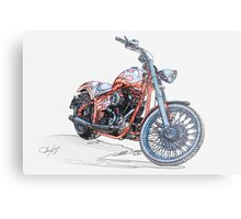 Chopper Illustration III Metal Print
