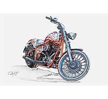 Chopper Illustration III Photographic Print