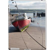 fishing boats anchored in Youghal bay iPad Case/Skin