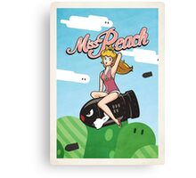 Miss Peach Pin-Up Canvas Print
