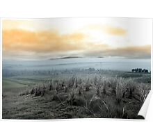 Fog rolling into the graveyard Poster