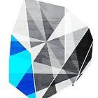 Graphite - Geometric Rock by TabithaBianca