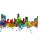 Leicester England Skyline by Michael Tompsett