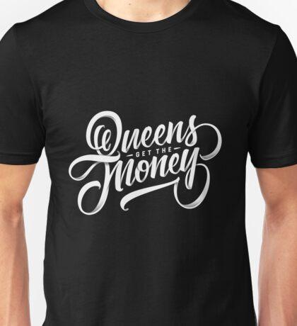 QUEENS - Hand Lettering Black & White Unisex T-Shirt