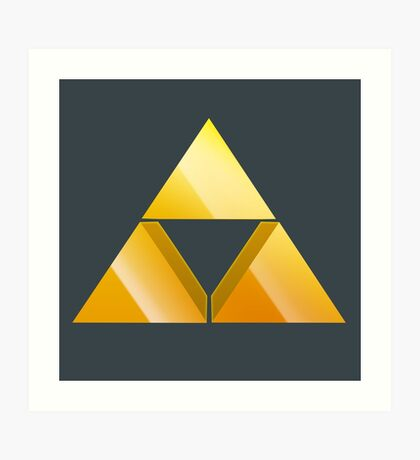 Zelda Triforce 3D Art Print