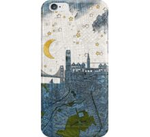 San Francisco skyline old map iPhone Case/Skin