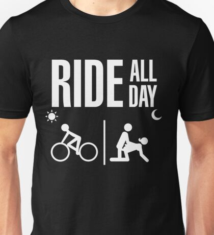 RIDE DOWNHILL FREERIDE MOUNTAIN BIKE MTB ALL DAY T SHIRT Unisex T-Shirt