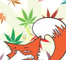 stoned fox Sticker