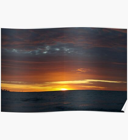 Dark cloud sunset Poster