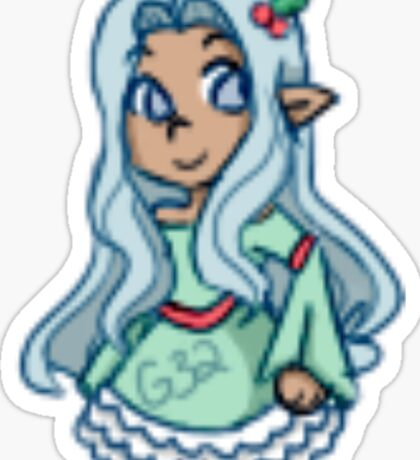 Festive Elf Sticker