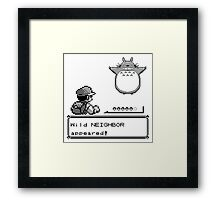 Wild NEIGHBOR appeared! Framed Print