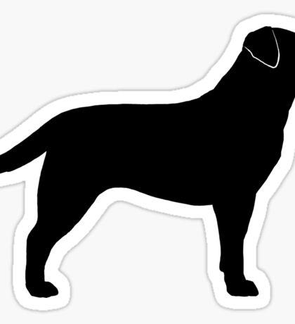 Black Labrador Retriever Silhouette(s) Sticker