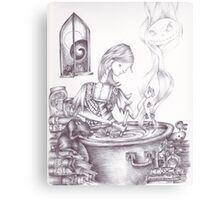 Sally Brewing Something Canvas Print