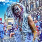 Gorgeous street artist by weecritter