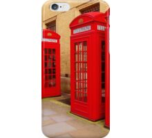 London Telephone Boxes iPhone Case/Skin