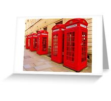 London Telephone Boxes Greeting Card