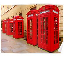 London Telephone Boxes Poster