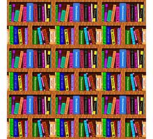 Library Bookshelf Background Pattern for Readers Photographic Print
