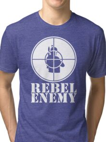 Rebel Enemy White Tri-blend T-Shirt
