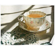 Antique China Teacup on Lace Poster