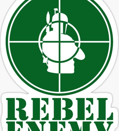 Rebel Enemy Green Sticker