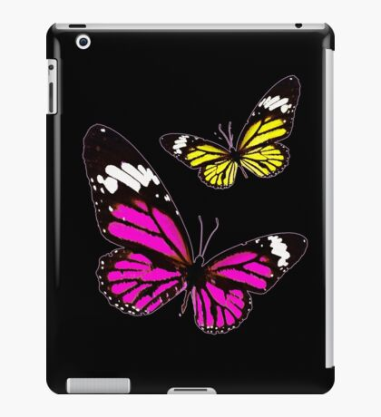 Cute unique Yellow and Pink Butterflies iPad Case/Skin