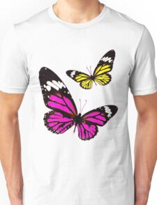 Cute unique Yellow and Pink Butterflies Unisex T-Shirt